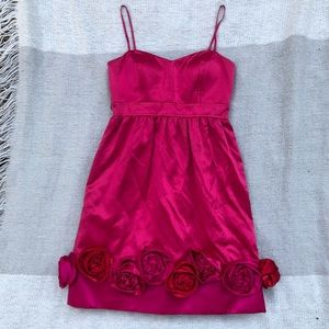 Vintage Phoebe Couture Pink Satin Dress